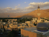 View from Nizwa Fort to Western Hajar Mountains  Nizwa  Oman  Middle East