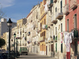 House Fronts and Laundry  Trapani  Sicily  Italy