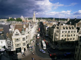 High Street from Carfax Tower  Oxford  Oxfordshire  England  United Kingdom