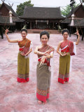 Traditional Thai Dancers  Old Chiang Mai Cultural Centre  Chiang Mai  Thailand  Southeast Asia