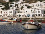 Fishing Boats and Harbour  Mykonos  Hora  Cyclades  Greece