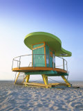 Lifeguard Hut in Art Deco Style  South Beach  Miami Beach  Miami  Florida  USA