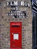 Tiled Street Name and Postbox  Hampstead  London  England  United Kingdom