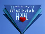 Elvis Presley's Heartbreak Hotel Sign  Memphis  Tennessee  USA