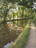 Towpath  Monmouth and Brecon Canal  Tal Y Bont  Powys  Mid-Wales  Wales  United Kingdom