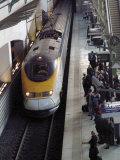 Eurostar Train Arriving at Lille Europe Station  Lille  Nord  France