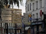 Signs in Town Centre  St Omer  Pas De Calais  France