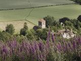 Little Malvern Village  Viewed from Main Ridge of the Malvern Hills  Worcestershire  England