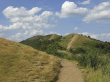 Footpath Along the Main Ridge of the Malvern Hills  Worcestershire  Midlands  England