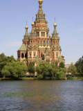 Peter and Paul Church Seen from Tsarina Pavilion  Peterhof  St Petersburg  Russia
