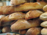 Bread and Baguettes in Boulangerie in Town Centre  Lille  Flanders  Nord  France