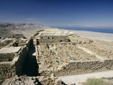 View North to Ruins of Northern Palace from Store Rooms Lookout  Masada National Park  Dead Sea