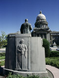 W A Coughanor Monument Outside Idaho Capitol  Boise  Idaho  USA
