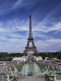 Trocadero and the Eiffel Tower  Paris  France