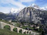 Murren  Eiger  Monch and Jungfrau  Bernese Oberland  Switzerland