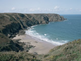 Plemont Bay from Clifftop  Greve Aulancon  Jersey  Channel Islands  United Kingdom