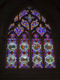 15th Century Stained Glass Window in the Cathedrale St-Corentin  Southern Finistere  France