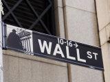 Wall Street Sign Manhattan  New York City  New York  USA