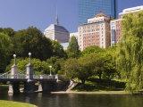 Lagoon Bridge in the Public Garden  Boston  Massachusetts  New England  USA