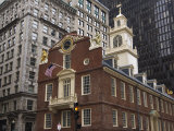 The Old State House  Built in 1713  Boston  Massachusetts  New England  USA