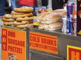 Hot Dog and Pretzel Stand  Manhattan  New York City  New York  USA