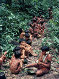 Yanomami on the Way to a Feast  Brazil  South America