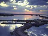 Cafe on a Jetty at Raqqa at Sunset  Euphrates Valley  Syria  Middle East