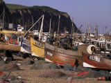 Fishing Boats on the Beach  Hastings  East Sussex  England  United Kingdom