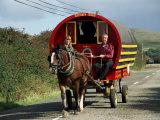 Horse-Drawn Gypsy Caravan  Dingle Peninsula  County Kerry  Munster  Eire (Republic of Ireland)