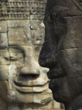 Stone Statuary of Human Faces  Ta Prohm Temple  Angkor  Siem Reap