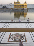 View from Entrance Gate of Holy Pool and Sikh Temple  Golden Temple  Amritsar  Punjab State  India