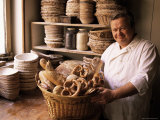 Baker with Selection of Bread  France