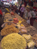 Dry Food on Indoor Stalls in Market  Augban  Shan State  Myanmar (Burma)