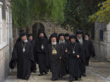 Ceremony for the New Greek Orthodox Patriarch in Jerusalem  Old City  Israel