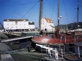 Quayside  Boats and Tidal Mill  Woodbridge  Suffolk  England  United Kingdom
