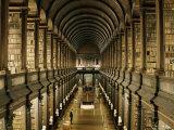Interior of the Library  Trinity College  Dublin  Eire (Republic of Ireland)