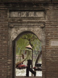 Lady Carrying Baskets  Hoan Kiem Lake  Hanoi  Northern Vietnam  Southeast Asia