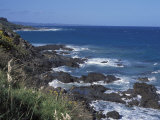 Landscape of Rugged Rocky Coastline Along the Great Ocean Road  Victoria  Australia
