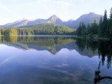 Strbske Pleso (Lake) and Peaks of Vysoke Tatry Mountains at Sunrise  Vysoke Tatry  Slovakia