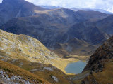 Panicata Lake in Valley Below Hajduta Peak  2465M  in Rila Mountains  Rila National Park  Bulgaria
