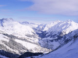 Snow-Covered Valley and Ski Resort Town of Lech  Austrian Alps  Lech  Arlberg  Austria