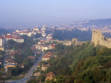 Town of Veliko Tarnovo and Walls of Tsarevets Fortress from Tsarevets Hill  Bulgaria