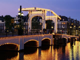 Magere Brug (Skinny Bridge)  Amsterdam  the Netherlands (Holland)