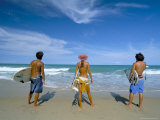 Surfers  Praia Do Amor  Pipa  Natal  Rio Grande Do Norte State  Brazil  South America