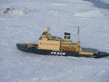 Russian Icebreaker  Seen from Helicopter Flight  Antarctica