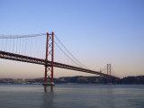 Ponte 25 De Abril Over the River Tagus  Lisbon  Portugal
