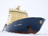 Russian Icebreaker  Kapitan Khlebnikov in Pack Ice  Weddell Sea  Antarctica  Polar Regions