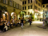 People Sitting at Outdoor Cafes and Restaurants  Stuttgart  Germany