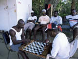 Fishermen Playing Checkers  Charlotteville  Tobago  West Indies  Caribbean  Central America