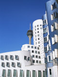 The Neuer Zollhof Building by Frank Gehry at the Medienhafen  Dusseldorf  North Rhine Westphalia